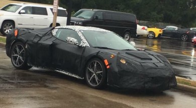 2019 Mid-Engine Corvette spotted in Cadillac, Michigan.