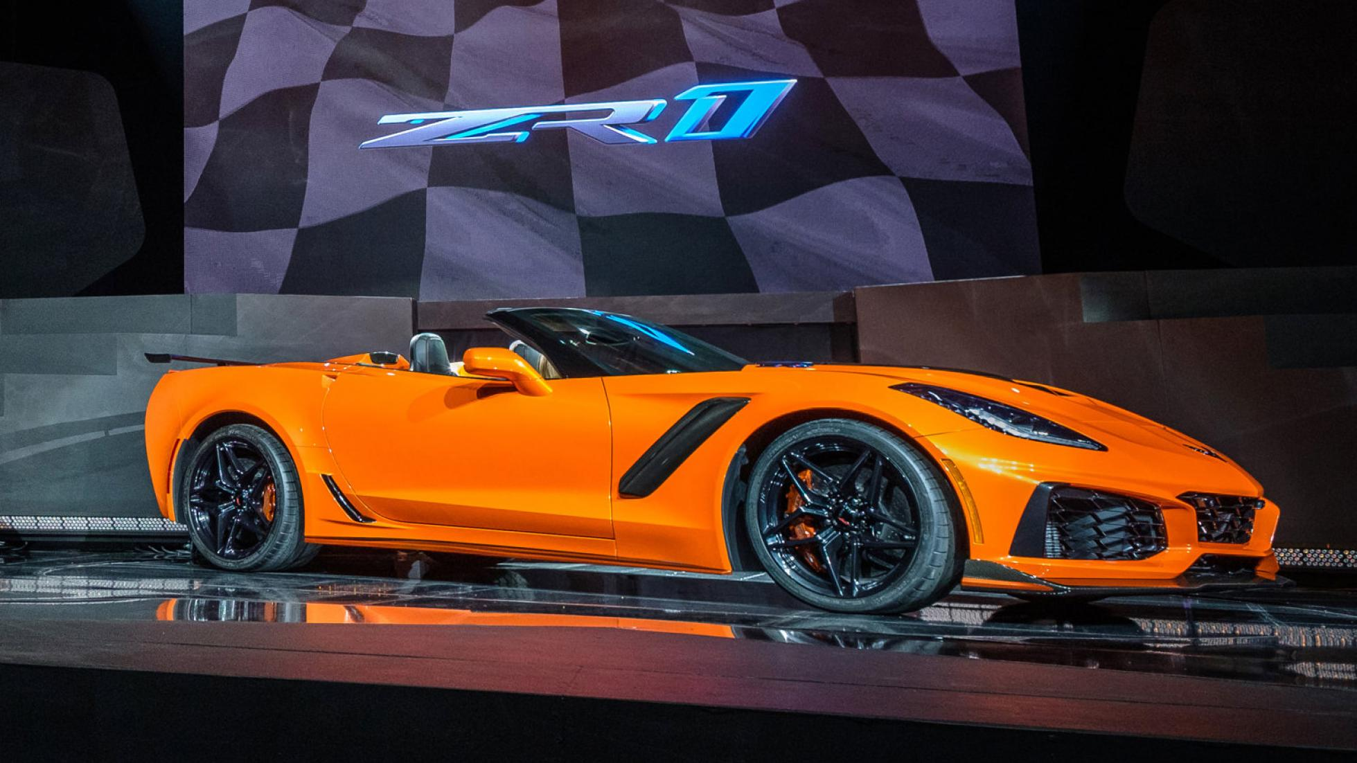 The 2019 Corvette ZR1 Convertible makes its world debut Tuesday, November 28, 2017 in Los Angeles, California. The Corvette ZR1's unique aero package is central to the coupe's 212-mph top speed generated by the 755 horsepower LT5 6.2L supercharged engine. The ZR1 convertible will start at $123,995 and will go on sale in the spring of 2018.)