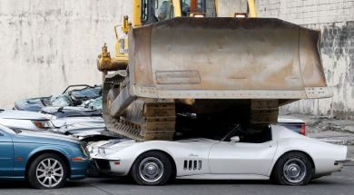 Philippine Government Crushes 30 Luxury Sports Cars Including a 1969 Corvette Stingray