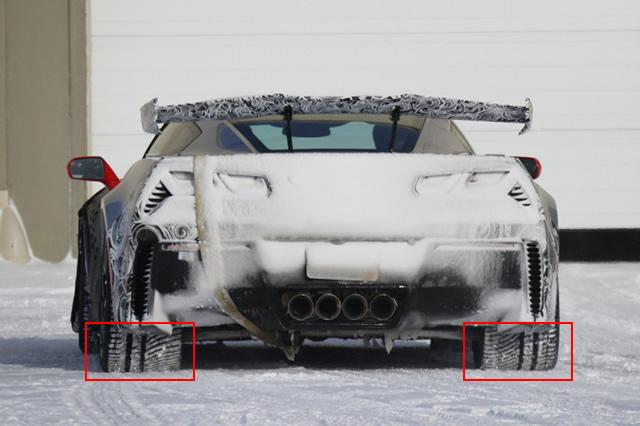 2019 Corvette ZR1 prototype winter testing
