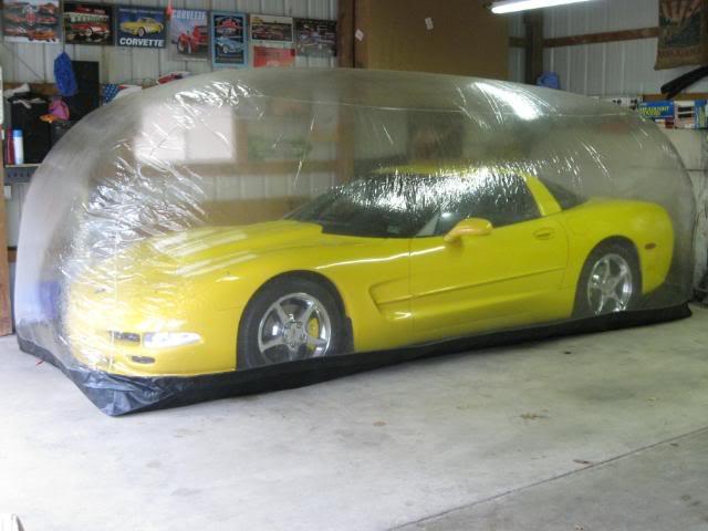 C5 Corvette in a Car Capsule storage container.