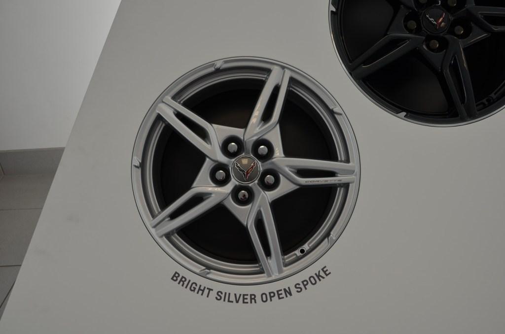 2020 C8 Corvette Bright Silver Open Spoke Wheel