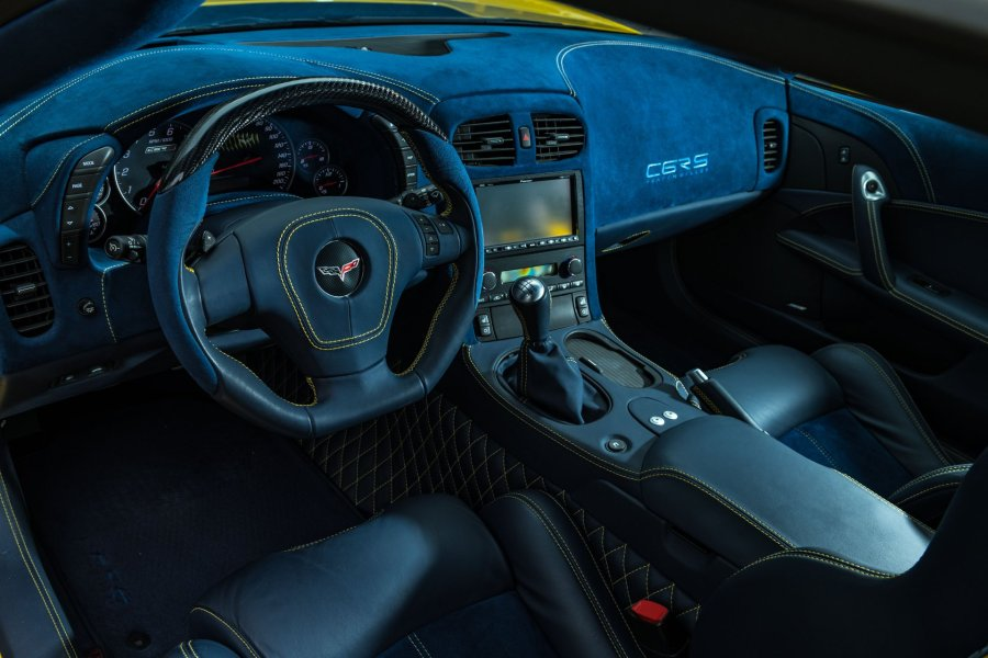 2007 Corvette C6RS with an interior designed by John Caravaggio.