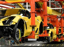 C7 Corvettes at the Bowling Green Corvette Assembly Plant