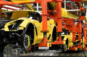C7 Corvettes at the Bowling Green Corvette Assembly Plant