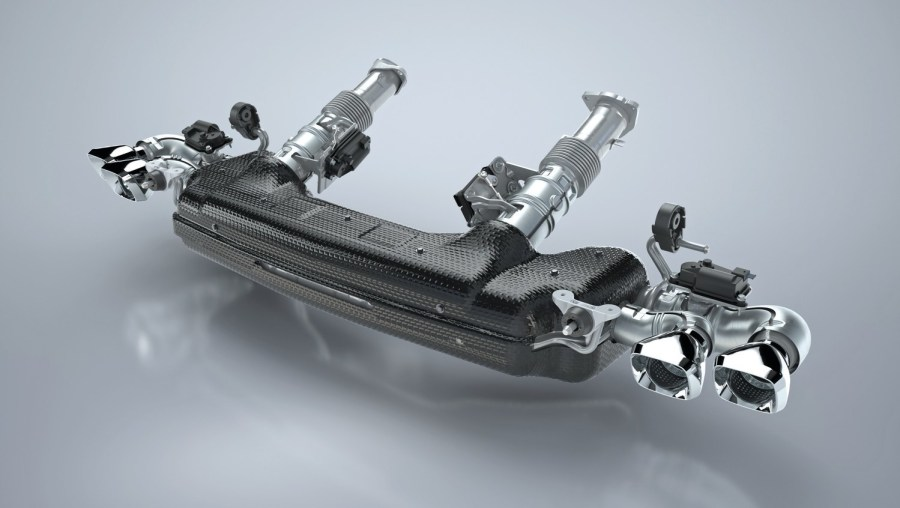 Tenneco is supplying General Motors with the complete cold-end exhaust system for new 2020 Chevrolet Corvette Stingray, the first-ever mid-engine Corvette. Pictured here is the optional `performance exhaust.' © 2020 Tenneco Inc.