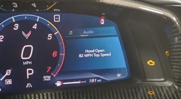 2020 Corvette Hood Open Alert