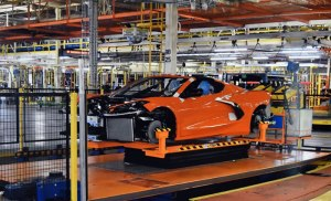 2020 Corvette Stingray on the Assembly Line