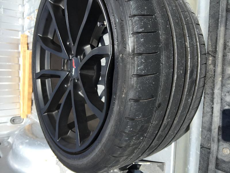 Bent Corvette Grand Sport Wheel
