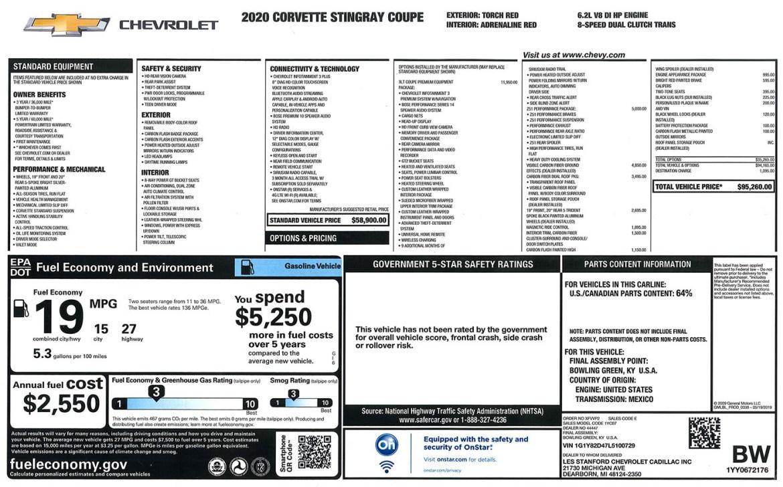 2020 Corvette - Number 729