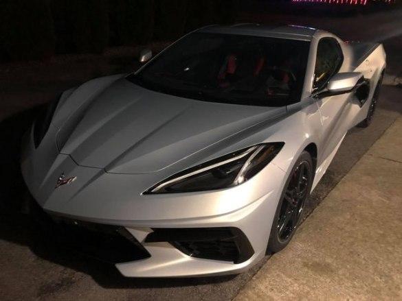 2021 Corvette in Silver Flare