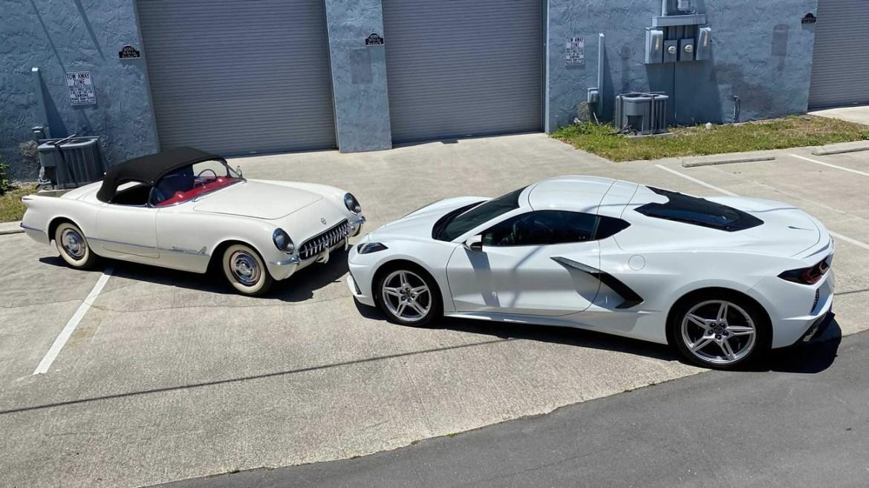 1953 and 2020 Corvette