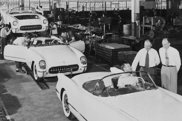 1953 Corvette Assembly Line in Flint, Michigan