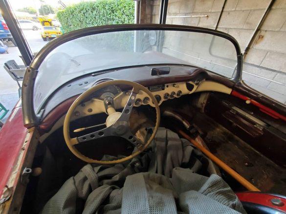 1954 Corvette in Sportsman Red Interior