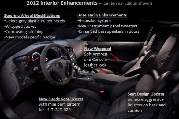 2012 Corvette Centennial Edition Interior Upgrades