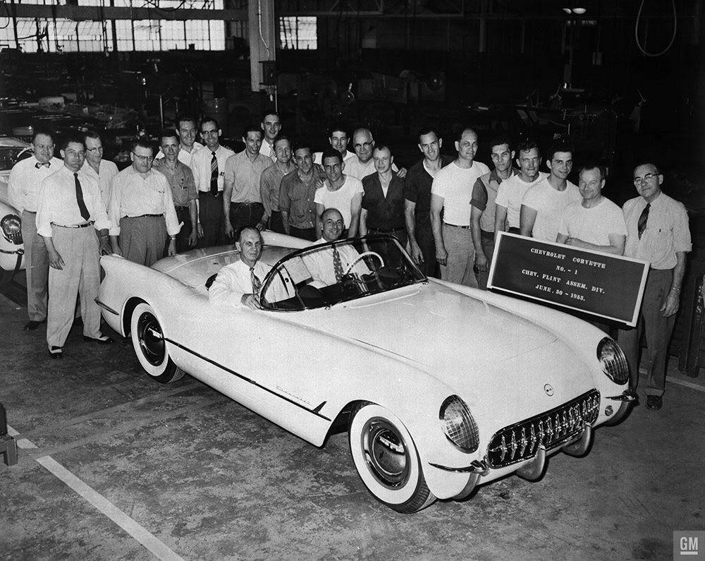 First Production 1953 Corvette Built. Photo: GM Archives