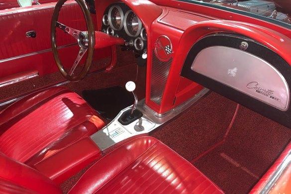 1963 Corvette Pilot Line Car - Number 18 - Interior
