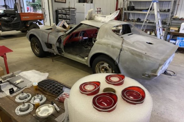 Thousands of parts from this Stingray will be restored to their original condition before they are put back into the Corvette and the Stingray is sent to a paint shop.   Photo: WDVM