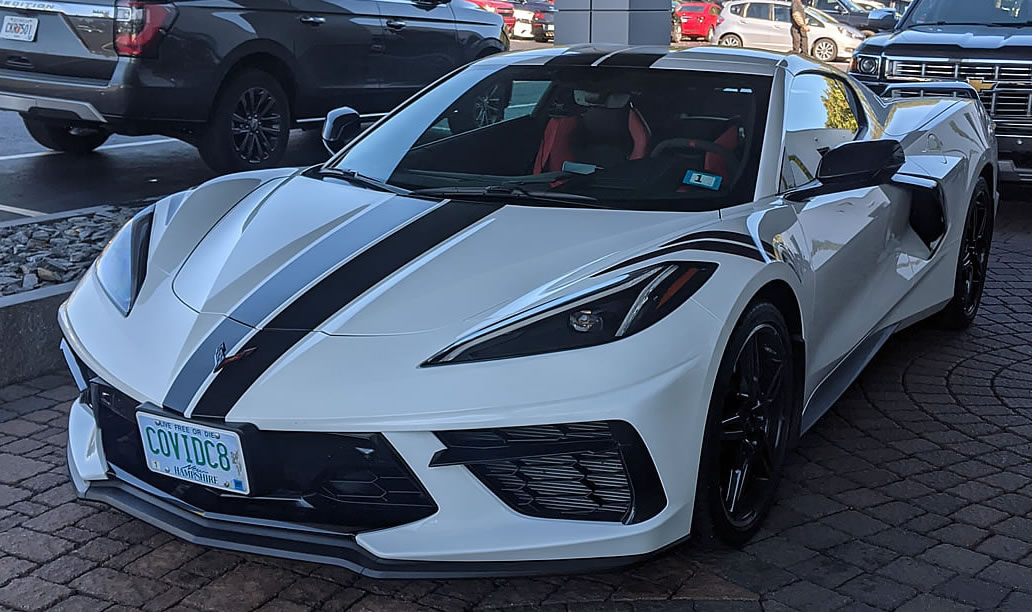 2020 Corvette Covid Vanity Plate