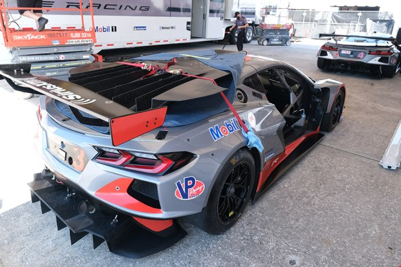 Corvette C8.R #3 in Gray and Red Livery | Photo Credit: John Dagys