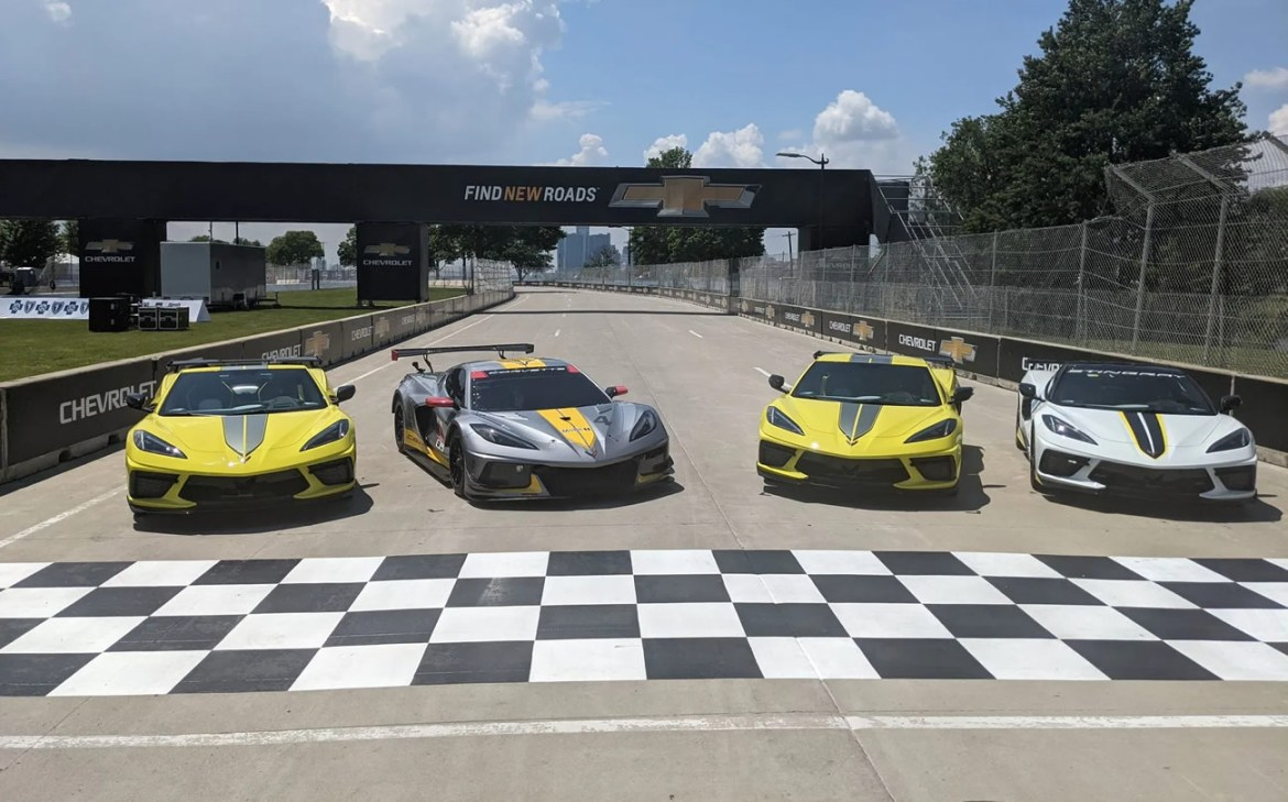 Chevrolet introduced the 2022 Corvette Stingray IMSA GTLM Championship Editon on Wednesday at Belle Isle ahead of this weekend's Detroit Grand Prix.