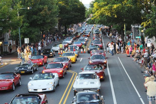 Corvettes at Carlisle Parade