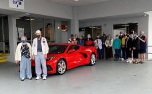 90-year old Chuck Cook takes delivery of his new C8 Corvette