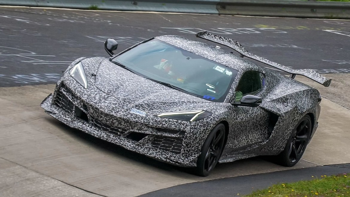 2023 Corvette Z06 with more aggressive aerodynamic package