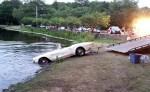 Classic 1962 Corvette Rolls Into a Connecticut Pond