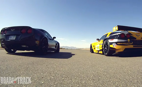 [VIDEO] Corvette ZR1 vs C6.R in Dream Drag Race
