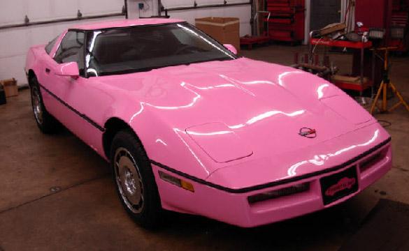 C4 Pink Corvette Restoration Aims for Raising Breast Cancer Awareness