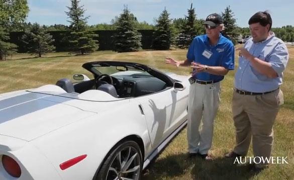 [VIDEO] Tadge Asks Autoweek about C7; Shows Off New 2013 427 Convertible Corvette