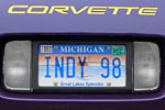 The Corvette Vanity Plates of Bloomington Gold 2012