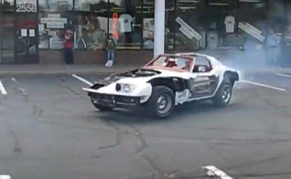 [VIDEO] Donuts in a Cutaway C3 Corvette
