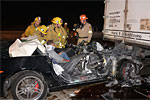 Corvette Z06 Owner Survives Horrific Crash on the 405 in California