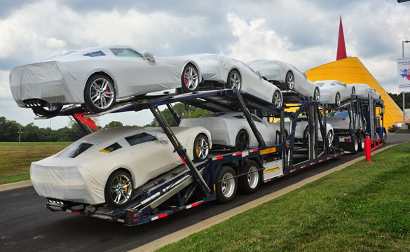 [PIC] First Shipment of R8C Delivery Corvette Stingrays Arrive at the National Corvette Museum