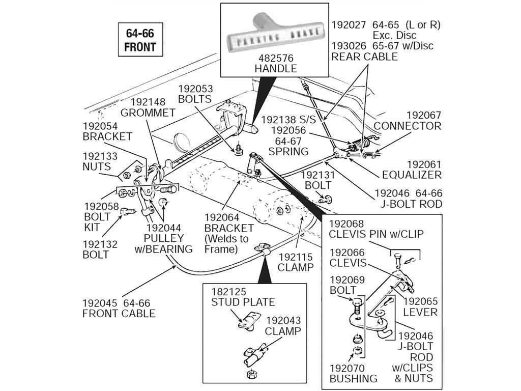 64 82 Parking Emergency Brake Cable Equalizer