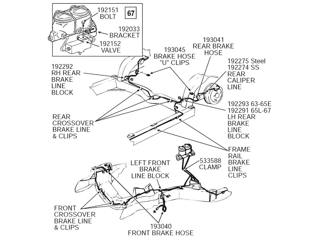 65 82 Brake Line Block