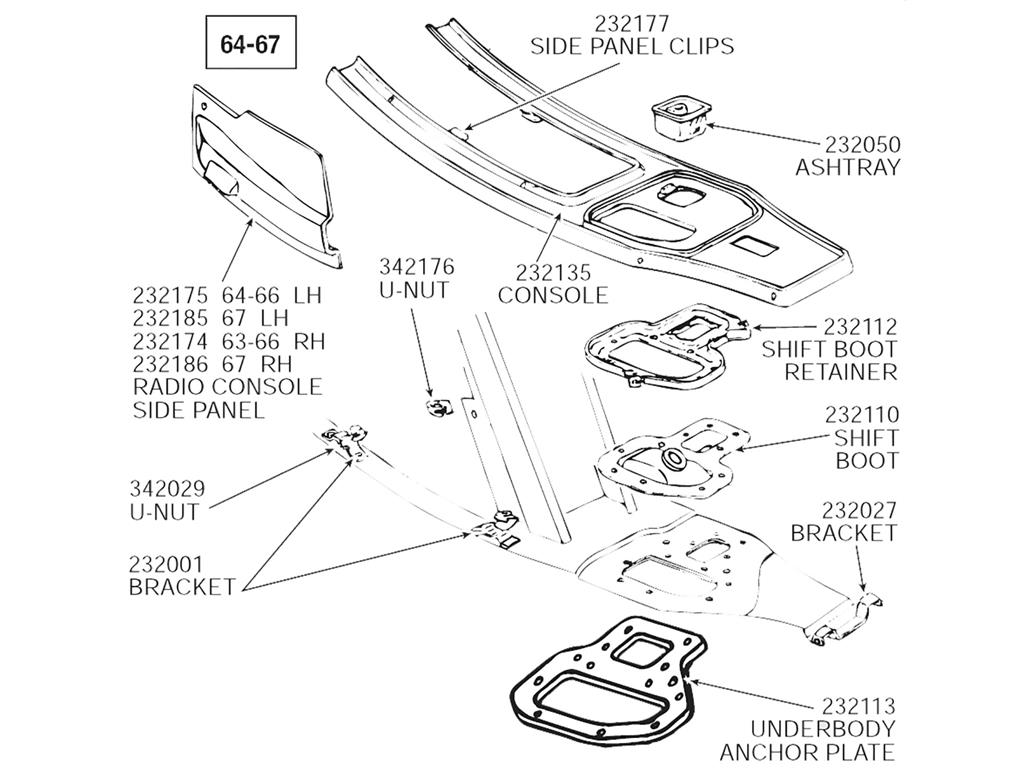 63 67 Console Support Bracket