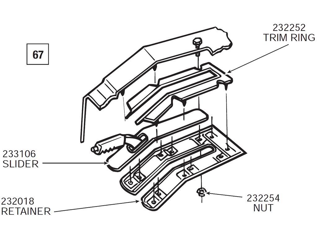 67 76 Parking Emergency Brake Console Slider