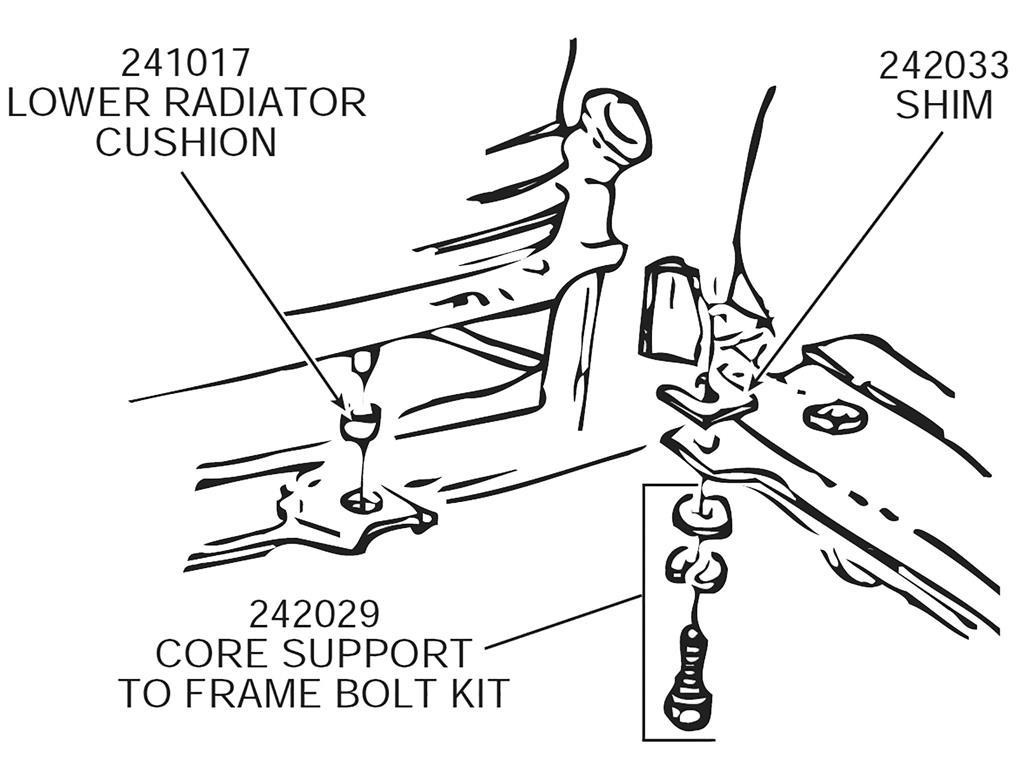 61 82 Radiator Cushion Power Steering Cylinder Grommet