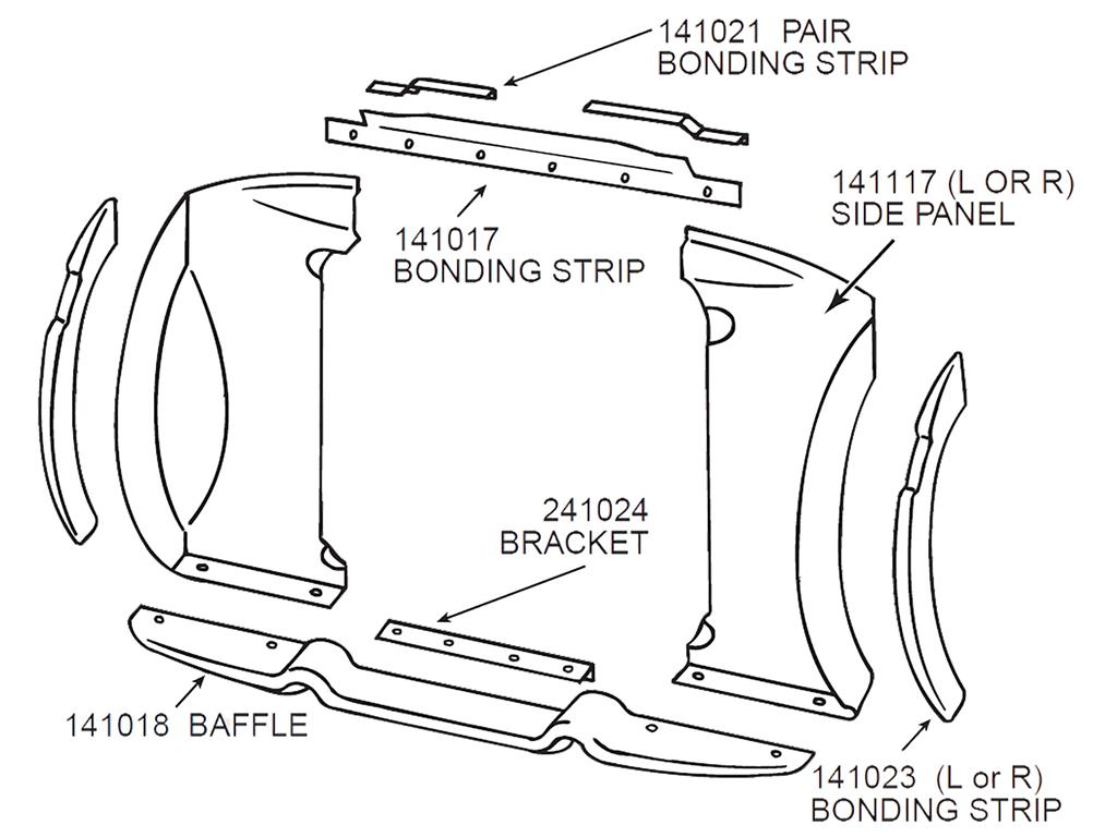 56 59 Radiator Baffle Mount Bracket