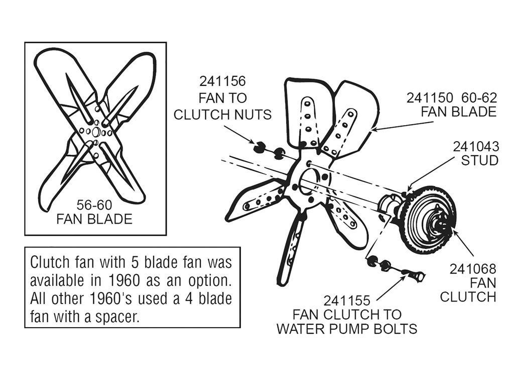 61 69 Fan Nut Set