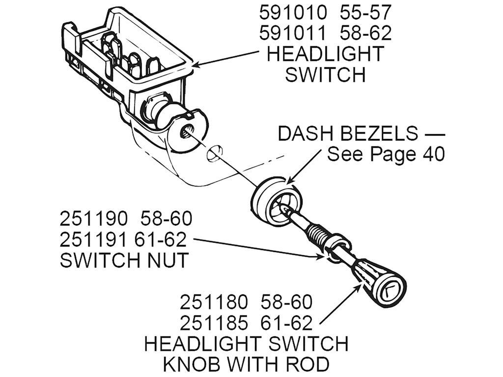 58 60 Headlight Switch Knob