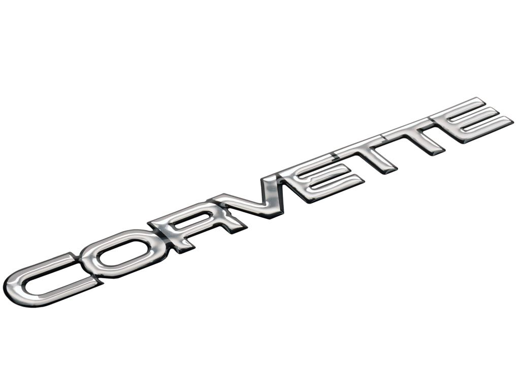 84 90 Rear Corvette Polyurethane Emblem Specify Color