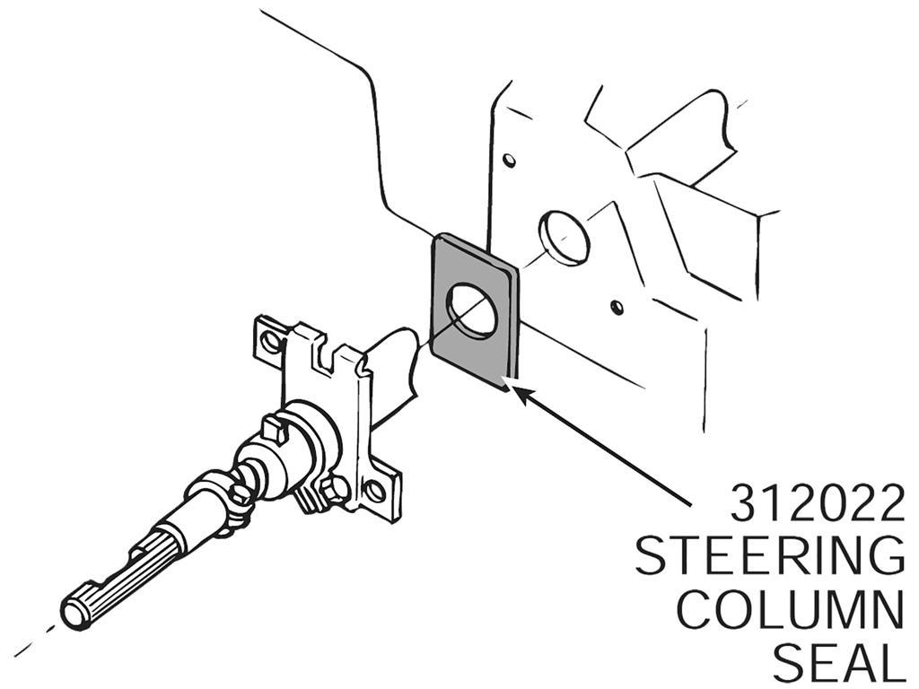63 67 Steering Column Firewall Seal