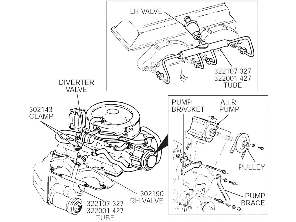66 80 327 350 A I R Smog Exhaust Manifold Tubes