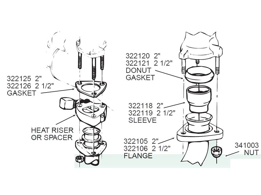 57 74 Exhaust Heat Riser Gasket