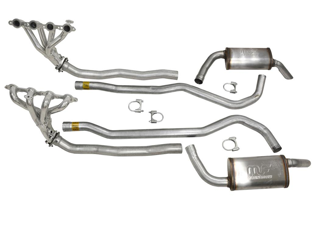 74 82 4 Speed 5 Speed 350th Ls Conversion Exhaust System With Magnaflow Muff