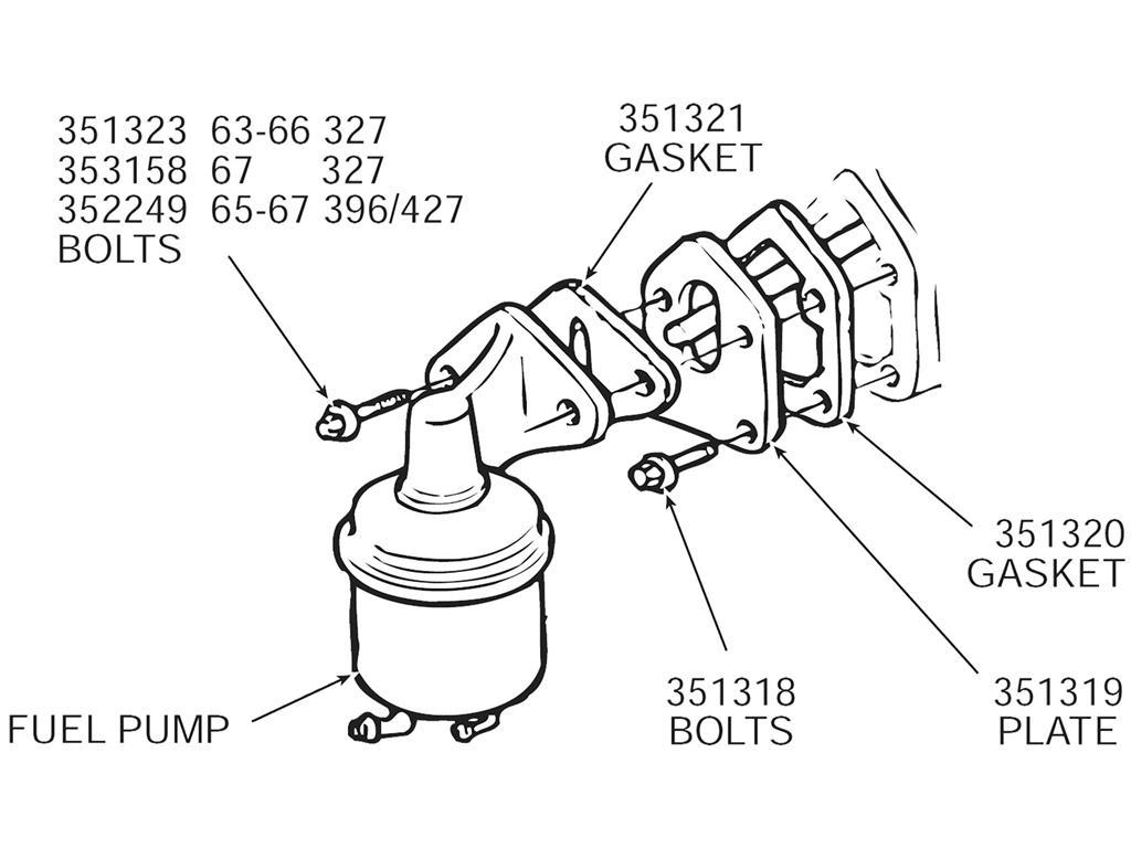 55 91 Fuel Pump Mount Plate Gasket